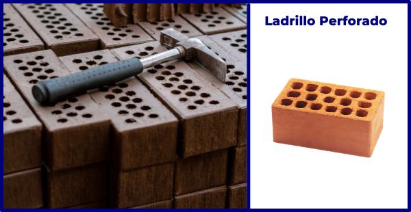 ladrillo perforado construcción