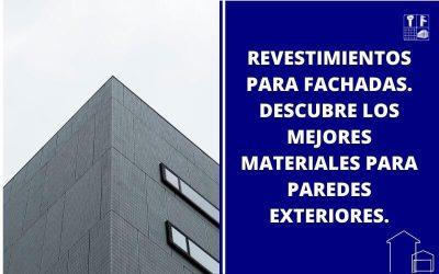 Revestimientos paredes exteriores.